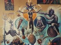 Fresque au Chand Kulvi àNaggar (Inde)